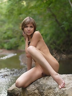 Erotica water outdoor, outdoors, natural, nature, younger nude nude