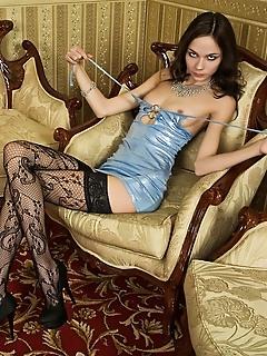 Erotica babes vol 9 poses in stockings