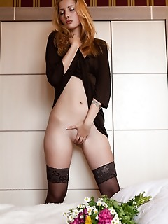 Beauty in stockings