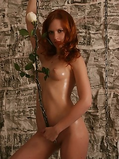 Thrilling red-haired free erotic photography naked girls
