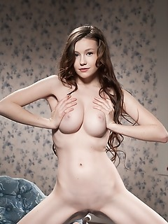 Curvaceous brunette