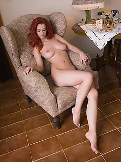 Top 20 redhead erotic fashion models naked femjoy series