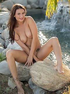 by the little waterfall big erotic tits femjoy naked free