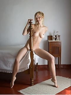 no hurry corinna blonde has particular tastes. Things have to be just right for her. And one of her must-haves is a four post bed. Because a four post