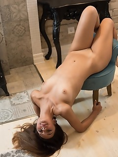 Horny model spreads