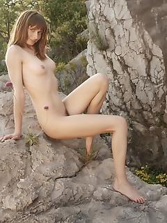 Rock hard titties