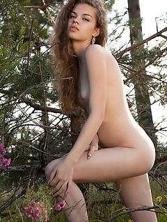 Sexy posing outdoors