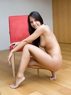 Teen brunette nude girl erotica girl model