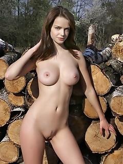 Booby hottie outdoor