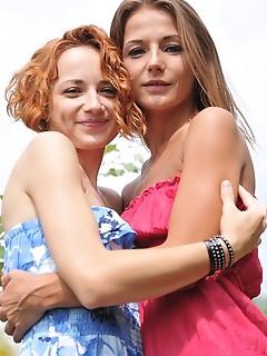 Skinny lesbians