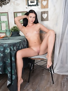 Sexy angel gets naked