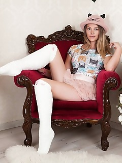Hottie in white socks