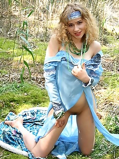 Cute teen free romantic teasing outdoor